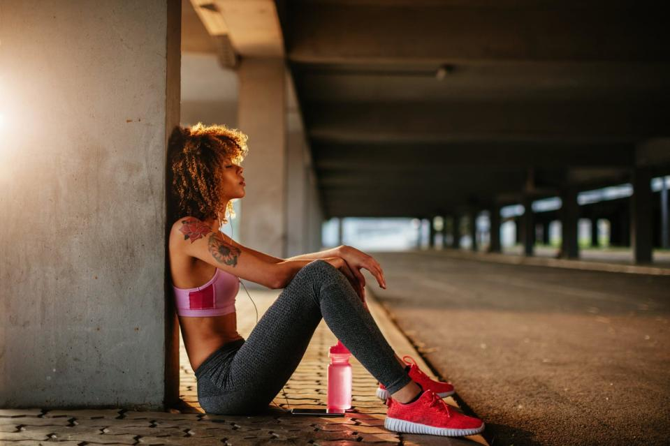 """<p>If you're simply not finding relief - and it's getting in the way of your workouts - it may be time to talk to your doctor. """"If your allergies are causing you to suffer, there are so many solutions out there,"""" Dr. Gupta said. """"Go see a doctor and <a href=""""https://www.popsugar.com/fitness/Can-You-Develop-Seasonal-Allergies-Later-Life-46009023"""" class=""""link rapid-noclick-resp"""" rel=""""nofollow noopener"""" target=""""_blank"""" data-ylk=""""slk:get allergy testing"""">get allergy testing</a> to figure out which medications are right for you, especially if it's causing you any difficulty breathing.""""</p> <p>Many experts recommend <a href=""""https://www.popsugar.com/fitness/How-Run-Outside-Seasonal-Allergies-45818100"""" class=""""link rapid-noclick-resp"""" rel=""""nofollow noopener"""" target=""""_blank"""" data-ylk=""""slk:taking an over-the-counter antihistamine or nasal spray"""">taking an over-the-counter antihistamine or nasal spray</a> an hour before your workout, for example - but there are also eye drops or inhalers, which can help soothe itchy, watery eyes or inflamed airways. Your doctor can help you develop a plan to best manage your symptoms.</p>"""