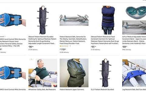 <span>Some of the restraint equipment for sale on Amazon</span>
