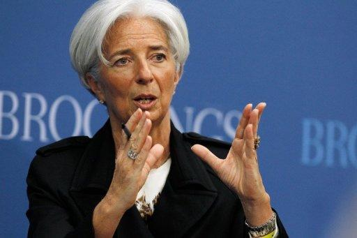 International Monetary Fund Managing Director Christine Lagarde, seen April 12, 2012, has said she is confident the global crisis lender would get a significant boost to its intervention capacity