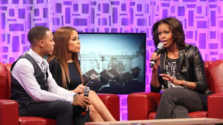 Michelle Obama Stops by