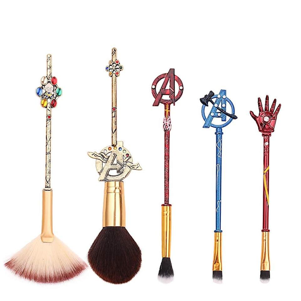 <p>Avengers, assemble! It's time to give your make up routine an upgrade with the <span>Avengers Makeup Brushes</span> ($13).</p>