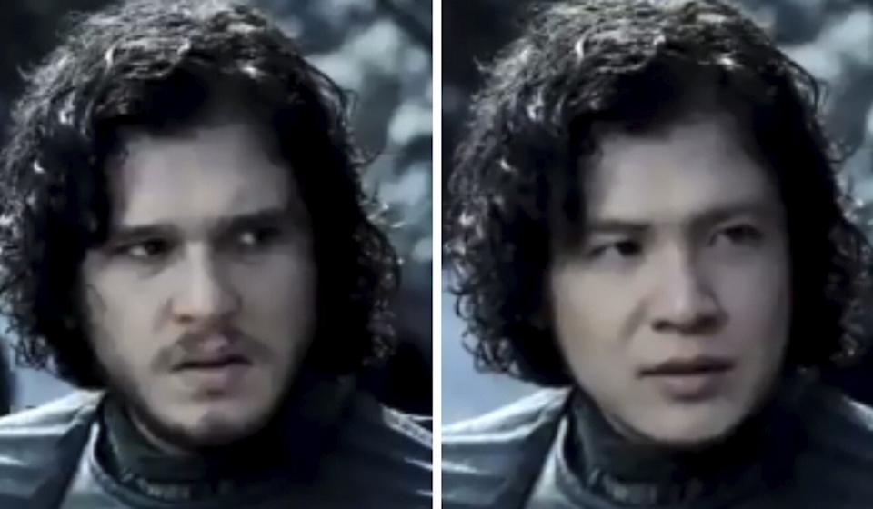 Allan Xia appearing as Game of Thrones' Jon Snow in the face-swapping app Zao.