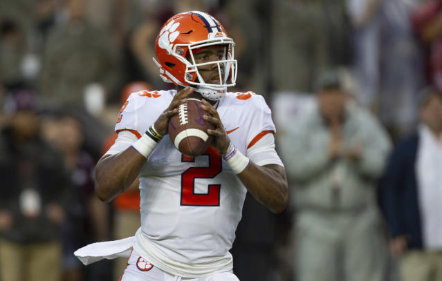 Kelly Bryant left Clemson as soon as he lost the starting QB job. Should that mean he doesn't get a championship ring. (AP Photo/Sam Craft)