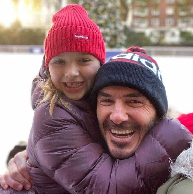 David Beckham and daughter | David Beckham/Instagram