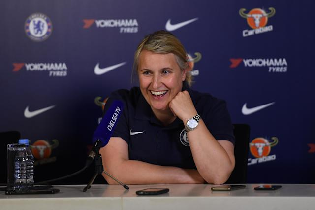 Emma Hayes says more clubs need to provide support for players with children. (Getty Images)