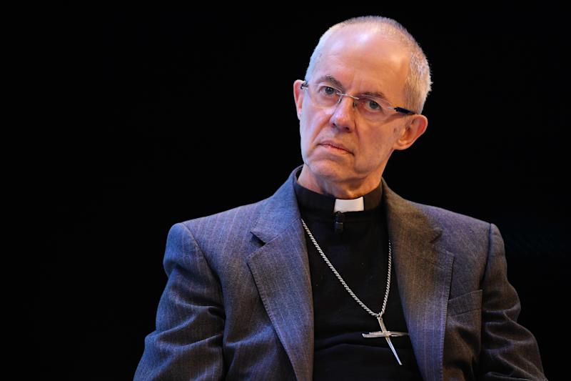 LONDON, ENGLAND - NOVEMBER 18: The Most Reverend Justin Welby, Archbishop of Canterbury talks at a debate on social inequality at the annual CBI conference on November 18, 2019 in London, England. (Photo by Leon Neal/Getty Images)