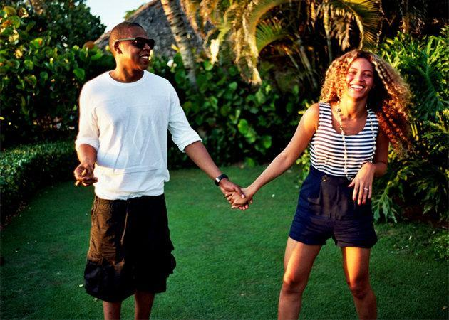 Celebrity photos: There were rumours last weekend that Beyonce and Jay-Z were renewing their wedding vows following the recent birth of their daughter, Blue Ivy. To keep fans in suspense a little longer, Beyonce posted some cute, candid shots of the pair on her website.