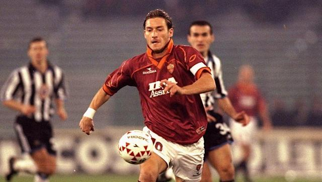 <p>Francesco Totti made his AS Roma debut in March 1993, at the age of 16. He'd spent three years in the club's youth team prior to that, and was brought on during the club's 2-0 victory at Brescia.</p> <br><p>His first goal for the club came in September 1994, and he's never looked back. To date, Totti has scored 250 for Roma - more than any Serie A player in history has managed for a single club - and has notched in every season since.</p> <br><p>Totti's best goalscoring year came in 2006/07.</p>