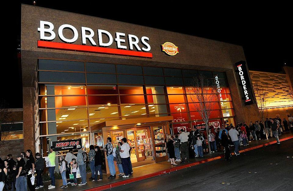 <p>Borders was founded in Michigan in 1971 and became one of the top booksellers of the early 2000s. But when electronic book readers came into play, the company had to shutter all 511 locations and filed for bankruptcy in 2011.</p>