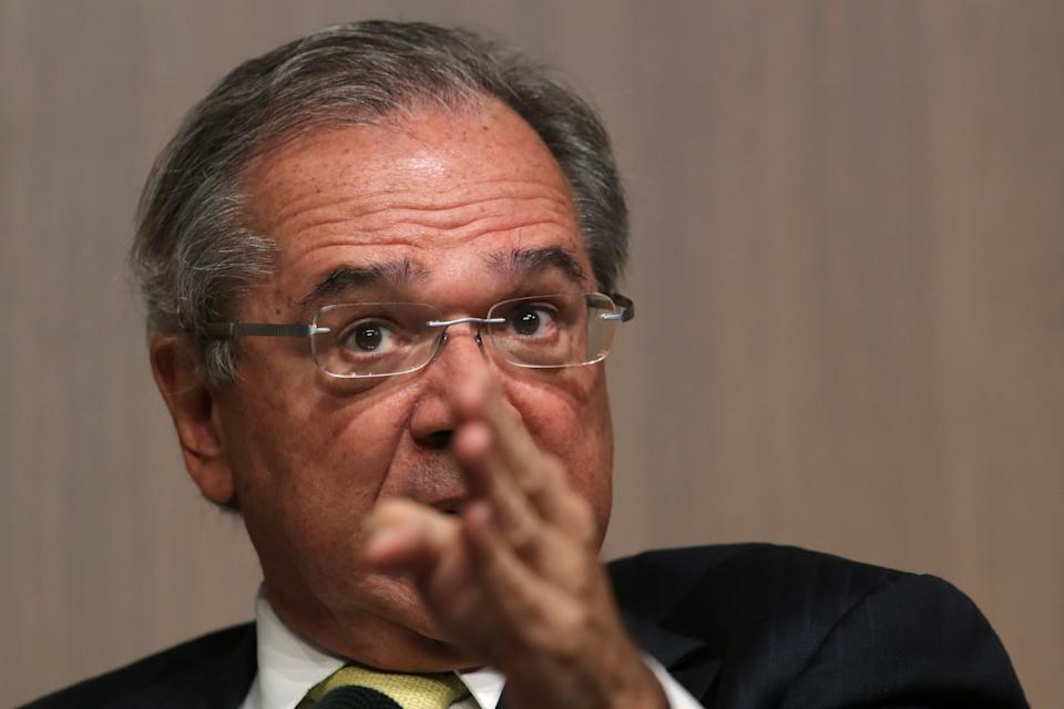 Brazil's Economy Minister Paulo Guedes is seen during a BTG Pactual event for its clients and investors in Sao Paulo, Brazil, August 8, 2019. REUTERS/Amanda Perobelli