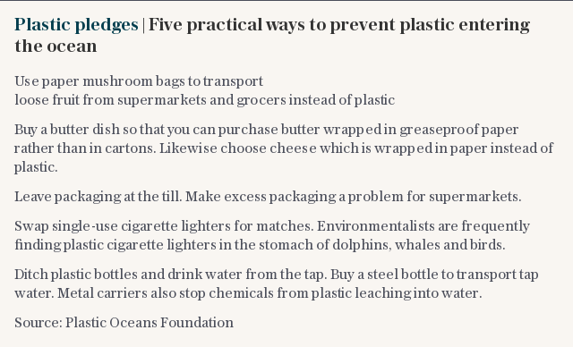 Plastic pledges | Five practical ways to prevent plastic entering the ocean