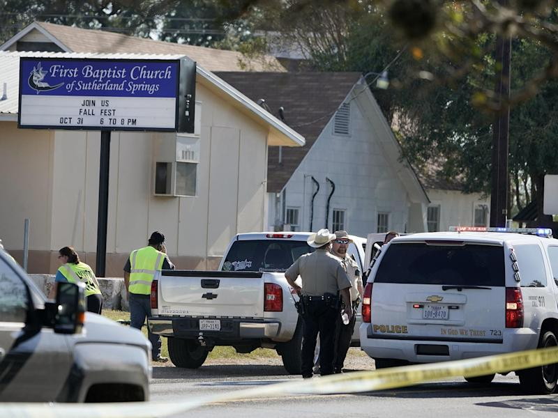 At least 20 people are reported to have been killed in the shooting at First Baptist Church: Associated Press