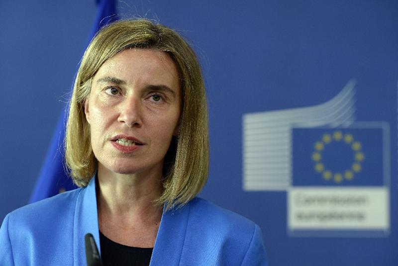 "Federica Mogherini, the EU foreign affairs chief, said the world needs ""a superpower that believes in multilateralism and cooperation"""