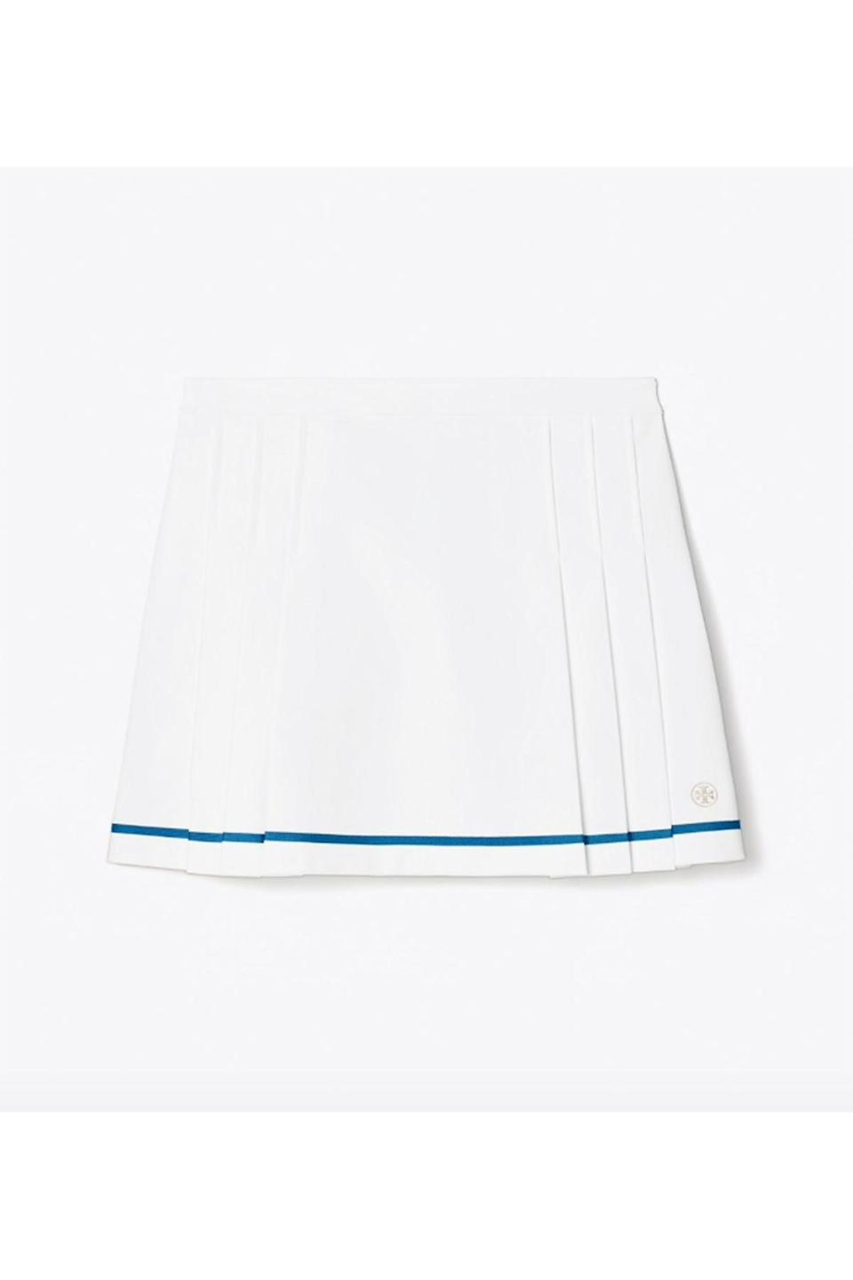 """<p><strong>Tory Sport</strong></p><p>toryburch.com</p><p><strong>$158.00</strong></p><p><a href=""""https://go.redirectingat.com?id=74968X1596630&url=https%3A%2F%2Fwww.toryburch.com%2Ftech-twill-pleated-tennis-skirt%2F73430.html&sref=https%3A%2F%2Fwww.townandcountrymag.com%2Fstyle%2Ffashion-trends%2Fg36717600%2Fbest-tennis-skirts%2F"""" rel=""""nofollow noopener"""" target=""""_blank"""" data-ylk=""""slk:Shop Now"""" class=""""link rapid-noclick-resp"""">Shop Now</a></p><p>Thanks to sharp tailoring, a pretty A-line silhouette, and elegant pleat details, no one will know you're wearing a tennis skirt.</p>"""