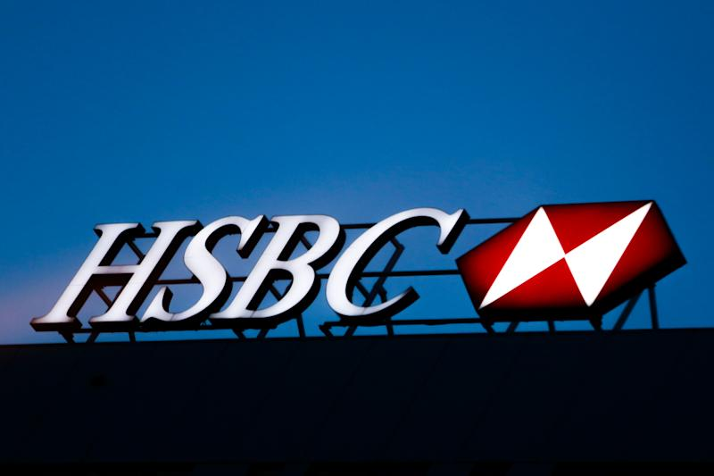 HSBC bank logo is seen on the office building in Krakow, Poland on February 12, 2020. (Photo by Jakub Porzycki/NurPhoto via Getty Images)
