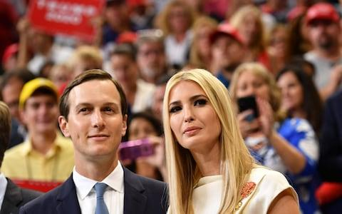 Jared Kushner (L) and Ivanka Trump arrive for the official launch of the Trump 2020 campaign - Credit: AFP