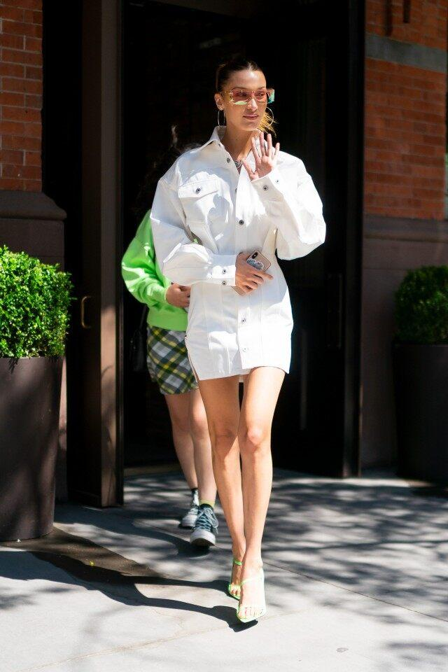 Bella Hadid in Fenty outfit