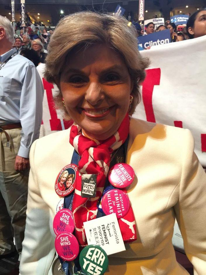 Attorney Gloria Allred on the floor at the Democratic National Convention. (Photo: Hunter Walker for Yahoo News)
