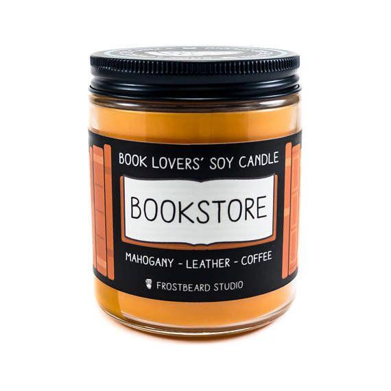 "Get it <a href=""https://www.etsy.com/listing/121303182/bookstore-8-oz-book-lovers-soy-candle"" target=""_blank"">here</a>."