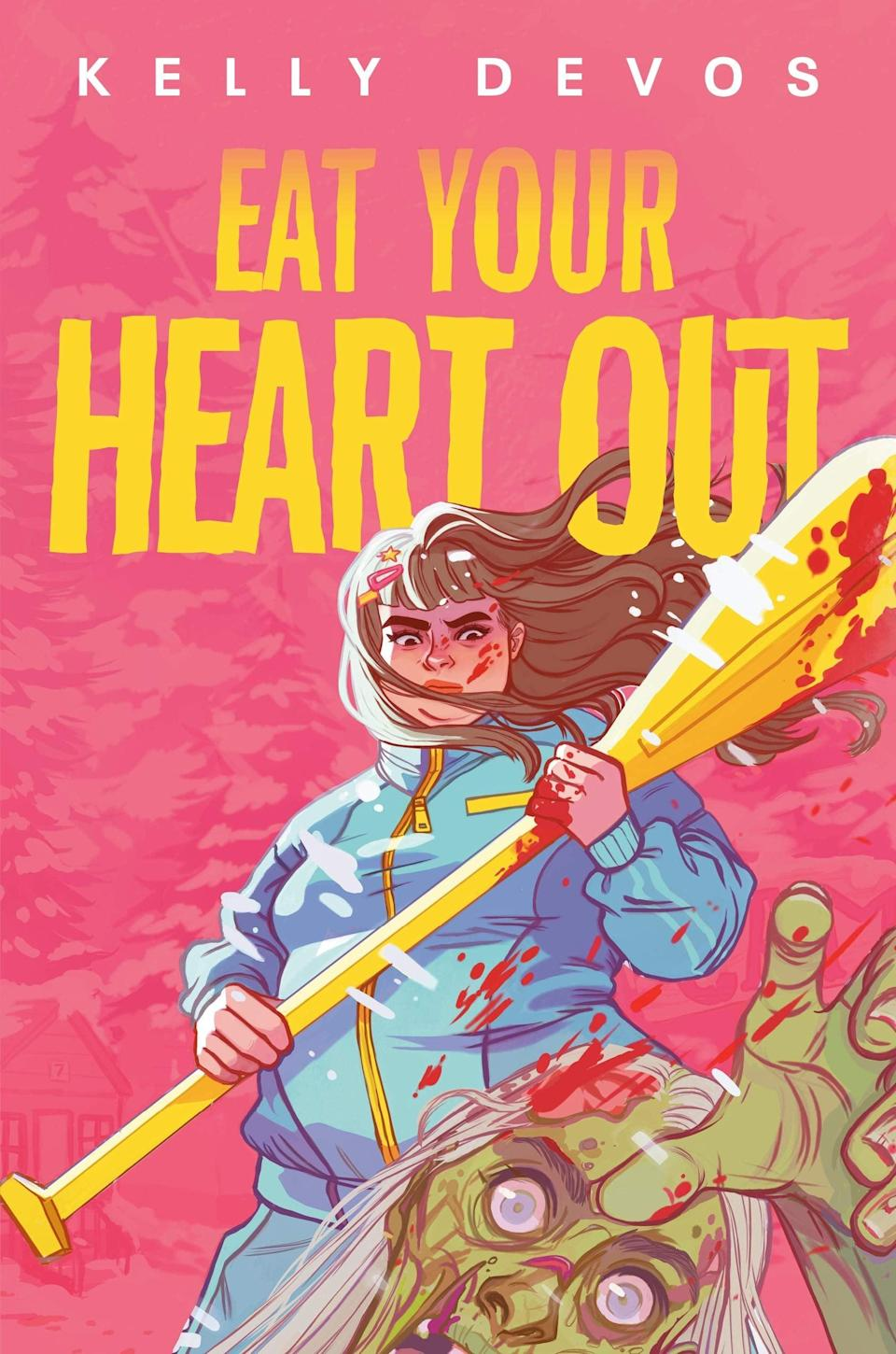 <p>Why yes, you do need a body positive YA zombie apocalypse novel in your life, especially if it's <span><strong>Eat Your Heart Out</strong></span> by Kelly deVos. This darkly hilarious tale of a young woman whose trip to a weight loss camp becomes even more nightmarish with the addition of zombies is a sharply observed slice of social commentary mixed with edge of your seat apocalyptic action.</p> <p><em>Out June 29</em></p>