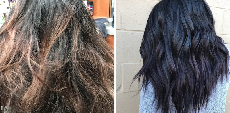 """Winter Berry"" Hair Is the Best Way for Brunettes to Play With Purple Dye This Season"