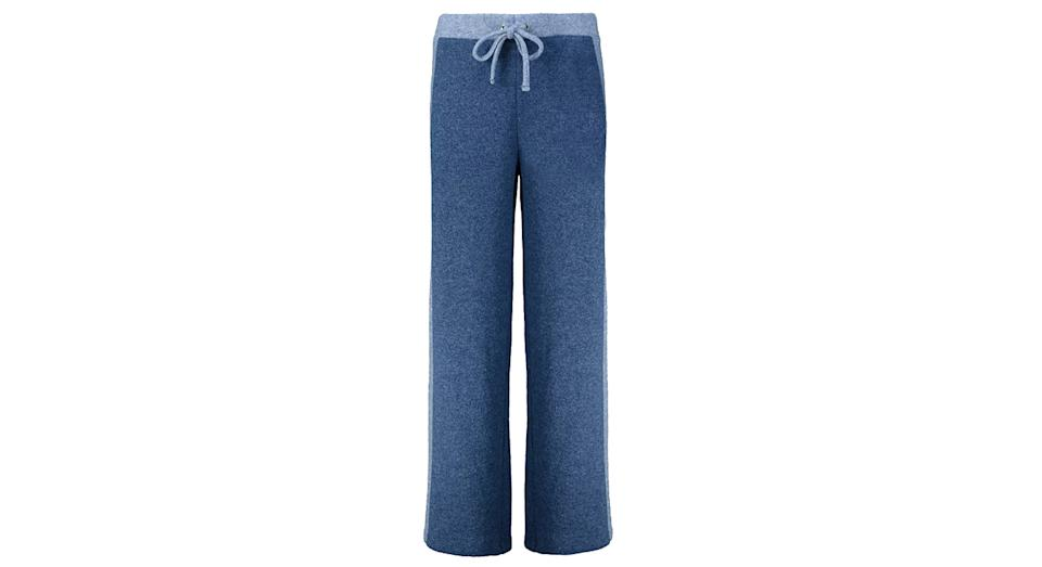 Blue Colour Block Soft Touch Wide Leg Co-ord Joggers