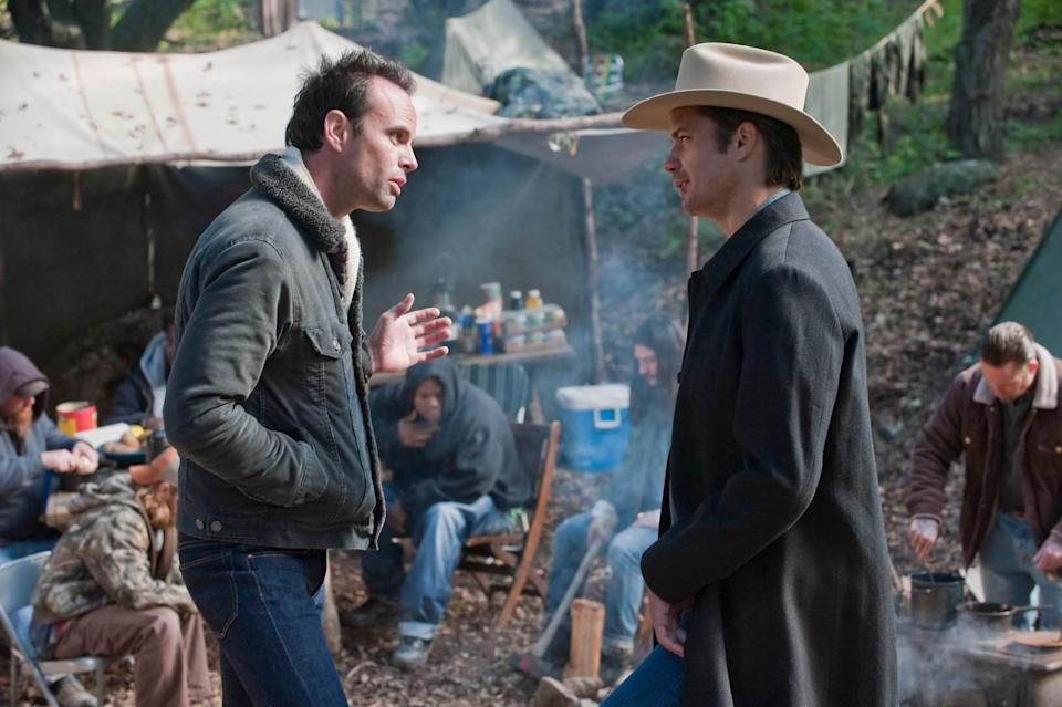 """FX's """"Justified"""" starred Walton Goggins and Timothy Olyphant."""