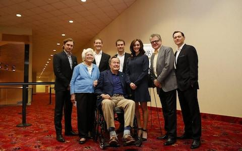 Heather Lind, 34, claimed Mr Bush, 93, assaulted her four years ago while they posed for a photograph alongside the former president's wife