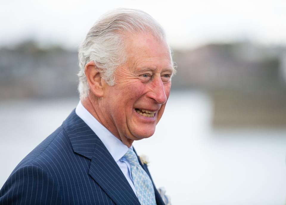 The Prince of Wales during a visit to Donaghadee Harbour where he viewed stones which line the harbour walls and were decorated with messages of hope by local people during the pandemic. The prince also unveiled a plaque to commemorate the Bicentenary of the Royal Charter of Donaghadee Harbour and the laying of the harbour's foundation stone. Picture date: Wednesday May 19, 2021.