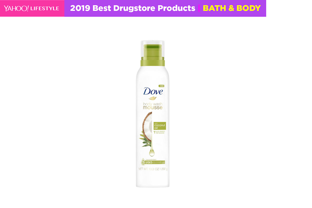 "<p>Dove is kicking off 2019 with its first-ever in-shower mousse that doubles as a shaving cream. The gentle formula produces a rich lather that pampers and nourishes skin instantly. <br /><strong><a rel=""nofollow"" href=""https://fave.co/2SKzmLL"">Shop it</a>:</strong> $6, <a rel=""nofollow"" href=""https://fave.co/2SKzmLL"">target.com</a> </p>"