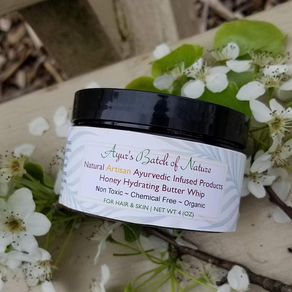 <p>Don't let winter dryness get in the way of treating your skin and hair right with the <span>Ayur's Batch of Nature, LLC Honey Hydrating Butter Whip For Hair and Body</span> ($13). </p>