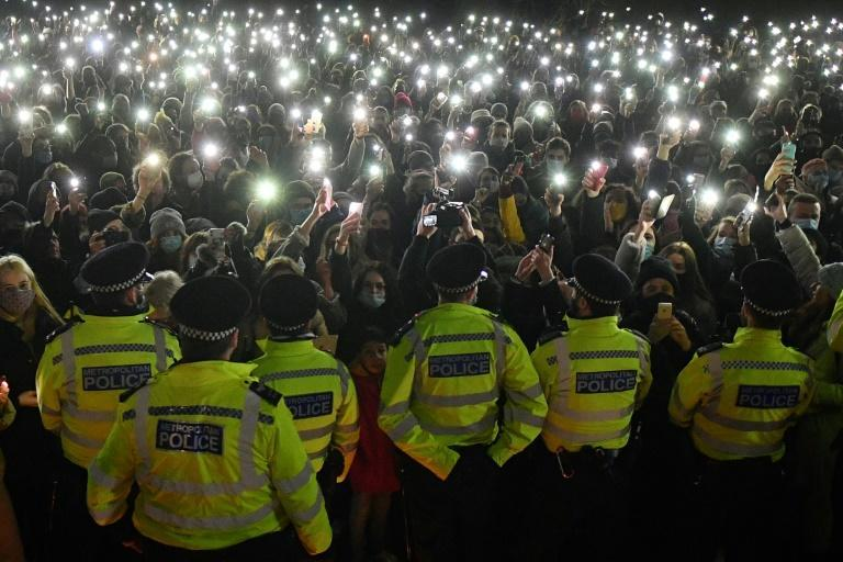 """Mourners shouted """"shame on you"""" at police"""