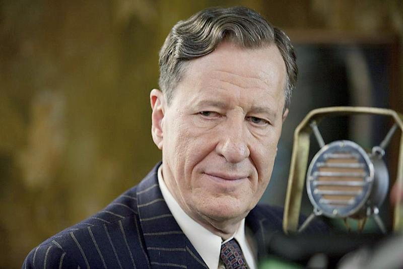 Rush as Australian speech therapist Lionel Logue in 'The King's Speech' who helped King George V1 with his stammer