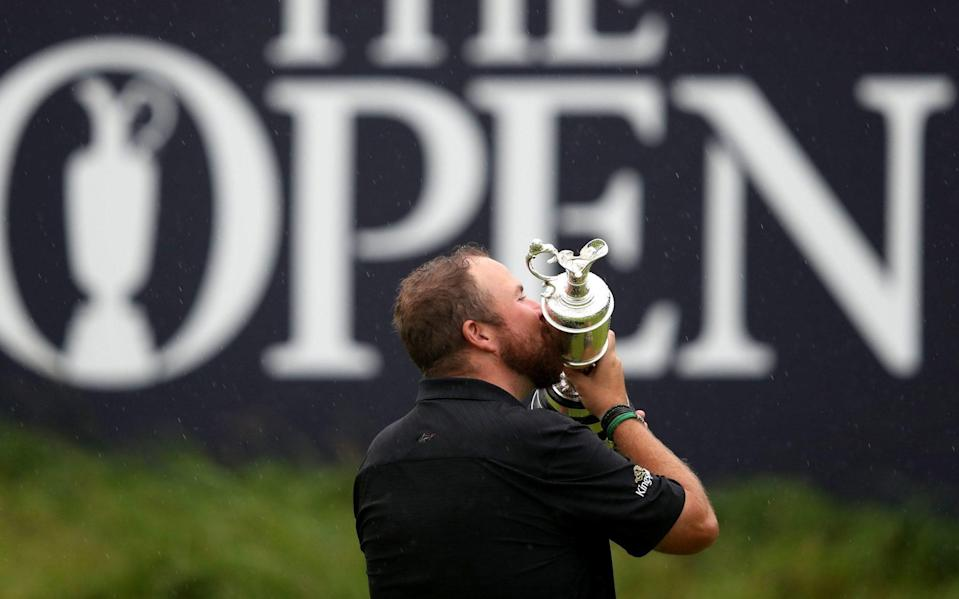 Shane Lowry celebrates with Claret Jug after winning The Open Championship in 2019 - PA