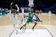 <p>No. 13 University of North Texas stunned fourth seed Purdue University when they faced off on March 19. The Mean Green beat the Boilermakers 78-69 in overtime to secure their first NCAA Tournament win in school history.</p>