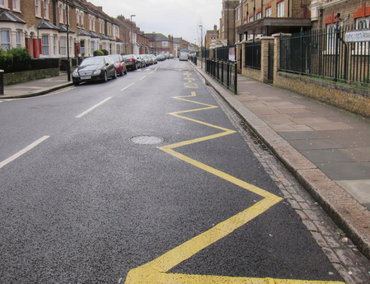 Snooping: Parents who park on zig zags will be fined if spotted by the cameras (Alan Stanton)