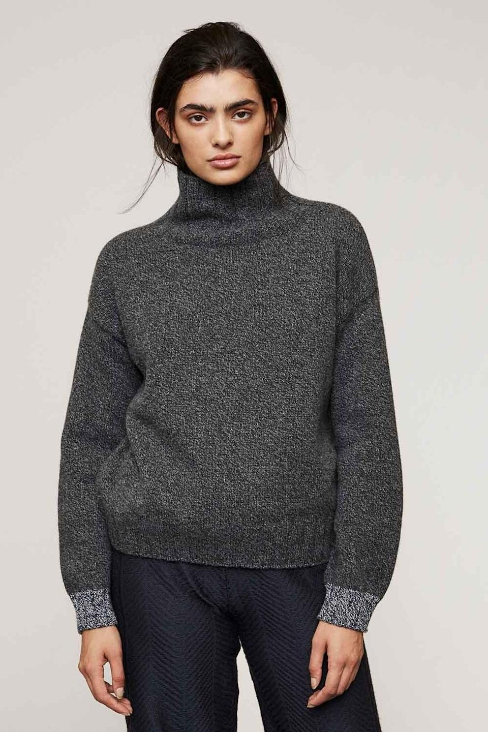 "<br><br><strong>Genevieve Sweeney</strong> Lambswool Slouch Turtleneck Jumper, $, available at <a href=""https://www.genevievesweeney.com/product/thame-lambswool-charcoal-grey/"" rel=""nofollow noopener"" target=""_blank"" data-ylk=""slk:Genevieve Sweeney"" class=""link rapid-noclick-resp"">Genevieve Sweeney</a>"
