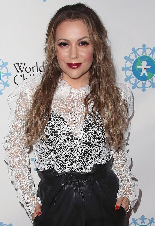 Alyssa Milano at the 2017 World of Children Hero Awards on April 19, 2017. (Photo: David Livingston/Getty Images)