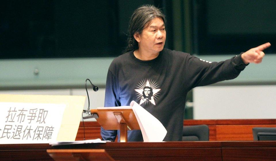 Leung Kwok-hung courted controversy as he insisted on wearing his iconic Che Guevara T-shirts in Legco. Photo: Edward Wong