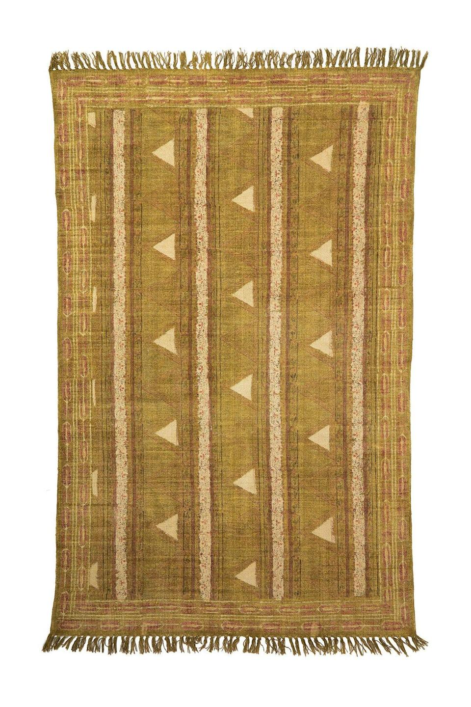"<p>This dhurrie-style rug is ready to add a splash of vintage, ""had it forever,"" charm to your space.</p><br><br><strong>INDABA</strong> Montana Rug (4'x6'), $119.97, available at <a href=""https://www.nordstromrack.com/shop/product/2673768/indaba-montana-rug-4-x-6"" rel=""nofollow noopener"" target=""_blank"" data-ylk=""slk:Nordstrom Rack"" class=""link rapid-noclick-resp"">Nordstrom Rack</a>"