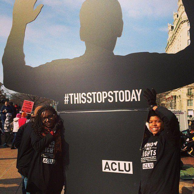 Protesters in Freedom Plaza on Dec. 13, 2014.