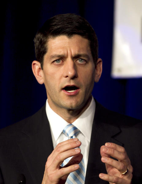 FILE - In this March 31, 2012 file photo, Rep. Paul Ryan, R-Wis. speaks in Pewaukee, Wis. If you hope to be president someday, taking the second spot on a ticket is a pretty good deal if that ticket wins. It's a possible path to obscurity if the ticket loses. (AP Photo/Steven Senne, File)