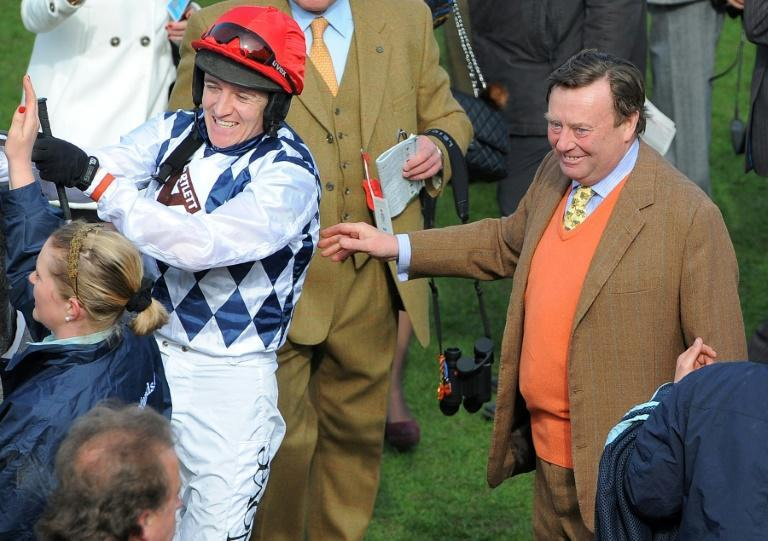 Trainer Nicky Henderson celebrated a remarkable eighth win in The Champion Hurdle as jockey Barry Geraghty rode Epatante to an impressive success at the Cheltenham Festival (AFP Photo/Andrew YATES)