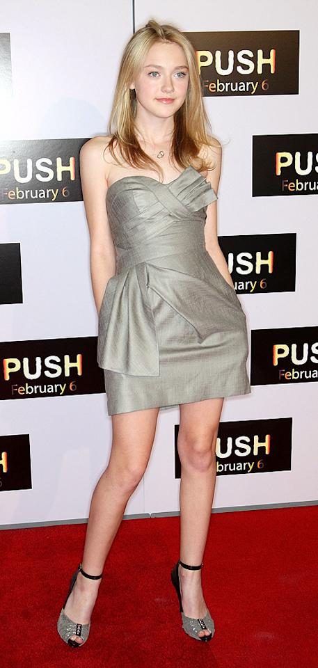 """<a href=""""http://movies.yahoo.com/movie/contributor/1804501481"""">Dakota Fanning</a> at the Los Angeles premiere of <a href=""""http://movies.yahoo.com/movie/1809922967/info"""">Push</a> - 01/29/2009"""