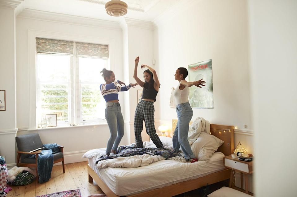 <p>It doesn't matter if you're 16 or 30, having a sleepover with your best friends that involves junk food, movies, and funny stories and is truly unmatched. Experience that joy again this summer. Maybe even take it outside for a backyard sleepover under the stars!</p>
