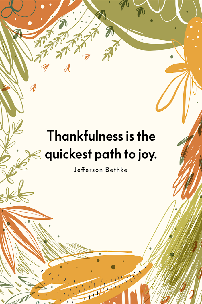 """<p>""""Thankfulness is the quickest path to joy,"""" the author wrote in his book <a href=""""https://www.amazon.com/Jesus-Religion-Better-Trying-Harder/dp/1400205395?tag=syn-yahoo-20&ascsubtag=%5Bartid%7C10072.g.28721147%5Bsrc%7Cyahoo-us"""" rel=""""nofollow noopener"""" target=""""_blank"""" data-ylk=""""slk:Jesus > Religion: Why He Is So Much Better Than Trying Harder, Doing More, and Being Good Enough"""" class=""""link rapid-noclick-resp""""><em>Jesus > Religion: Why He Is So Much Better Than Trying Harder, Doing More, and Being Good Enough</em></a>.</p>"""