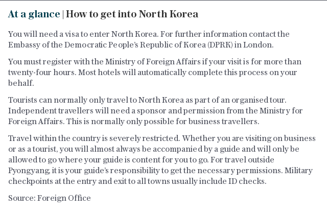 At a glance   How to get into North Korea
