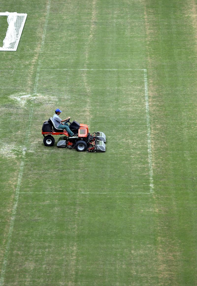 Patchy turf causing concern at Amazonian cup venue