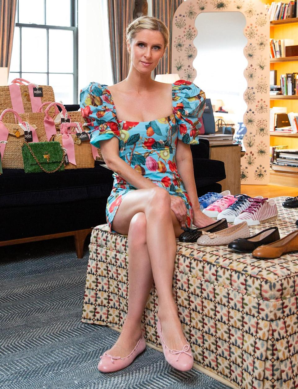 <p>Nicky Hilton's French Sole line joins forces with Cara Cara to raise funds for Lifeway Network to combat human trafficking in June at her home in N.Y.C.</p>