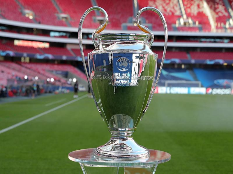 A detailed view of the Champions League trophy: Getty Images